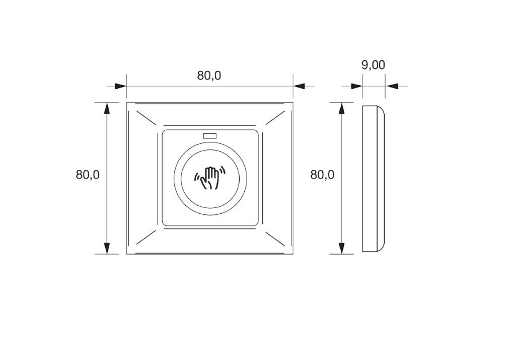 SALTO - Berührungsloser Schalter Wave XS
