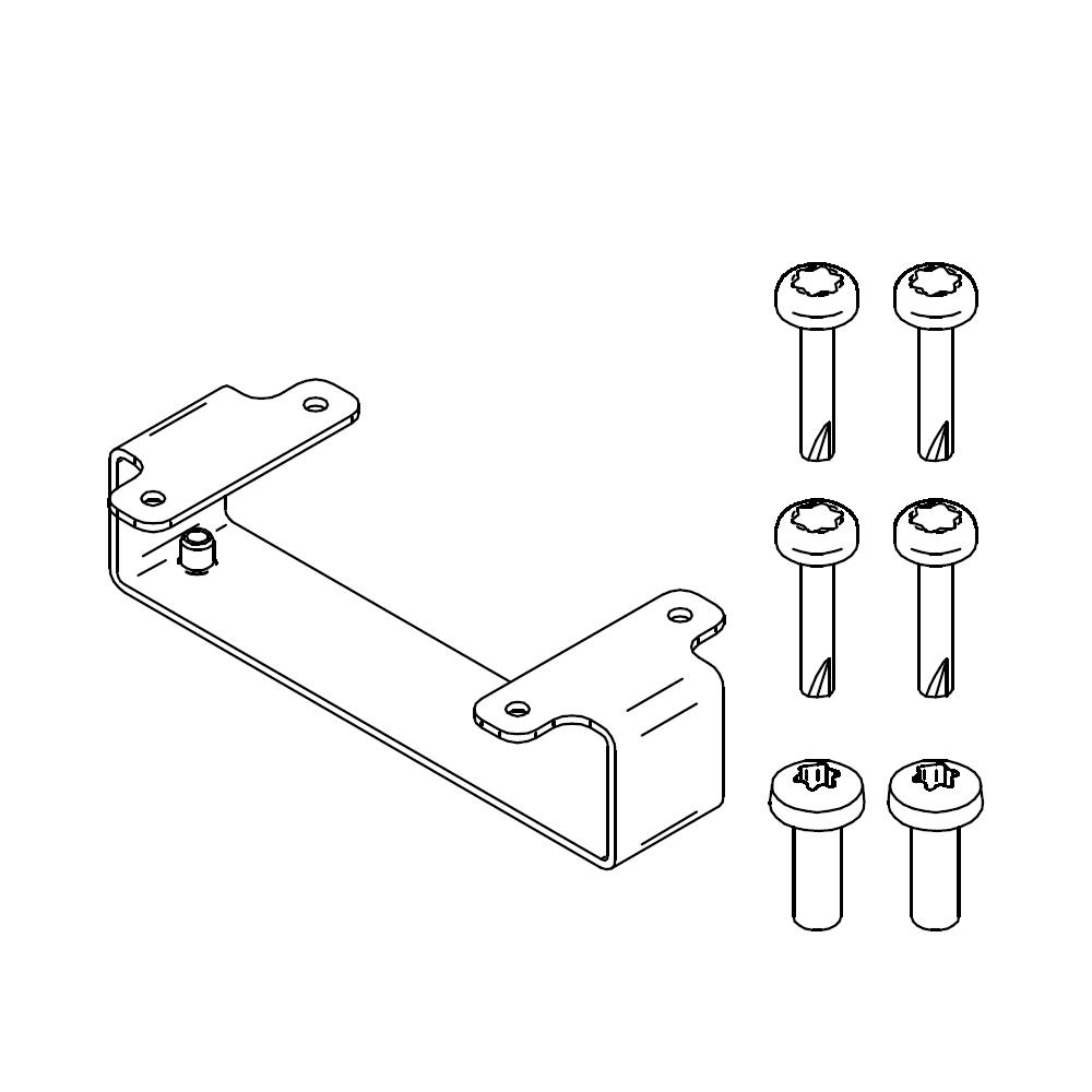 SALTO KS - IQ 2.0 Halterung für Metalloberflächen - SP225764