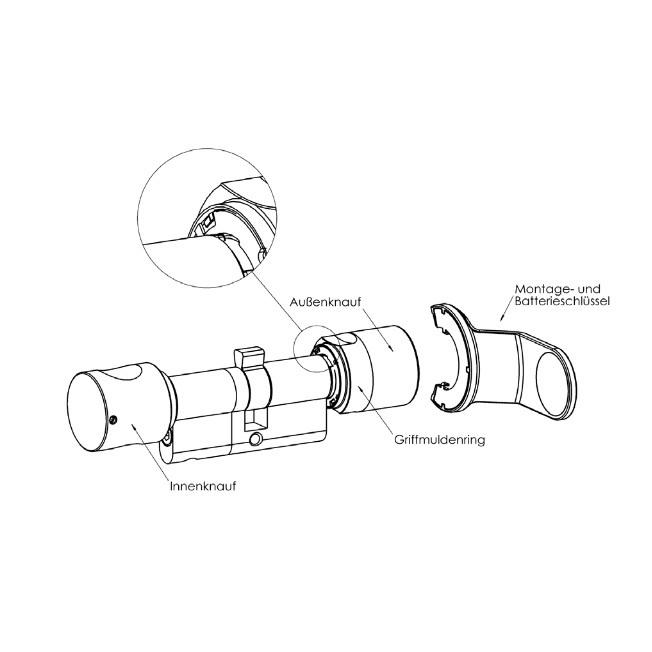 SimonsVoss - Montage-/Batterieschlüssel - Z4.SCHLUESSEL