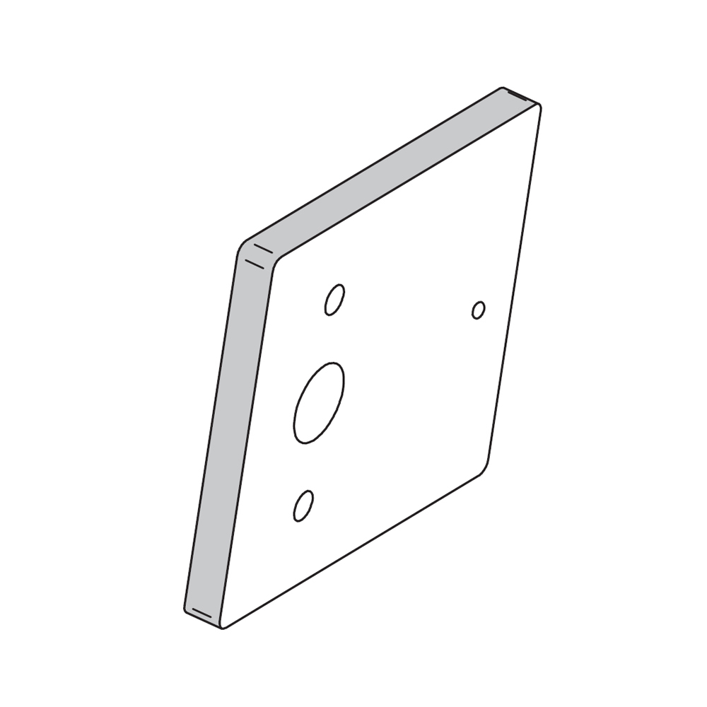 SALTO - Distanzplatte für XS4 Locker