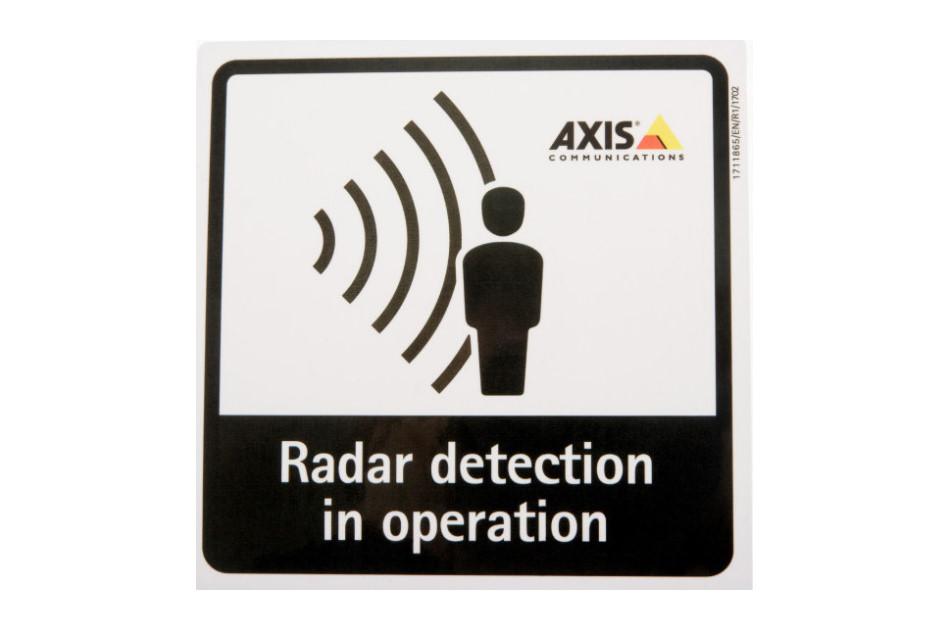 Axis - RADAR DETECTION STICKER EN 10P   Digital Key World