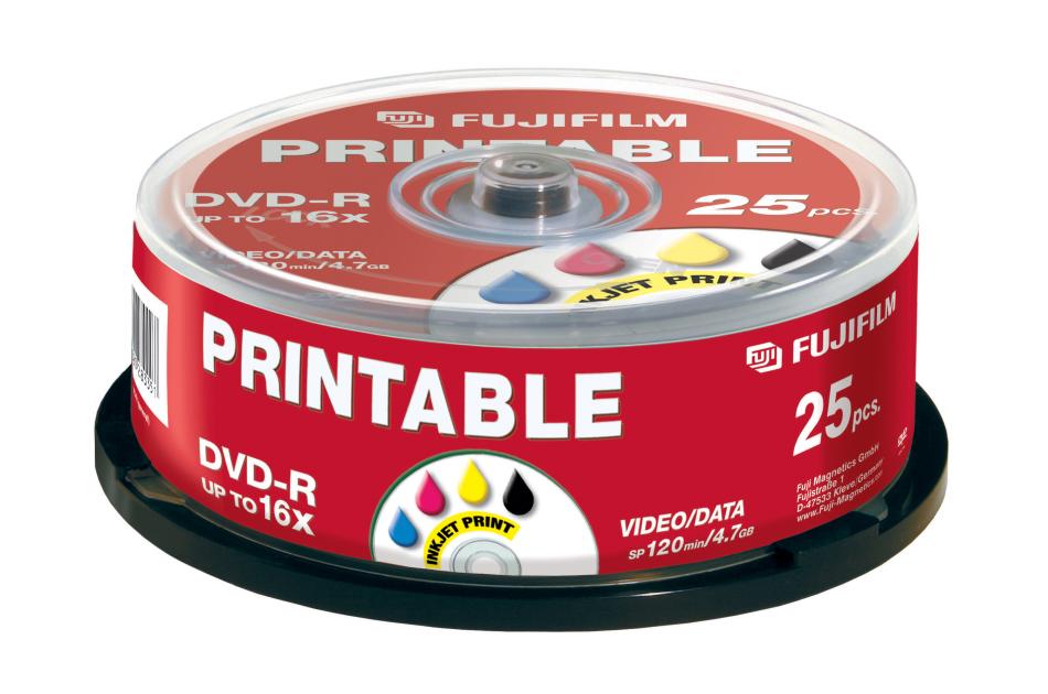 Fuji - DVD-R INKJET-25 | Digital Key World
