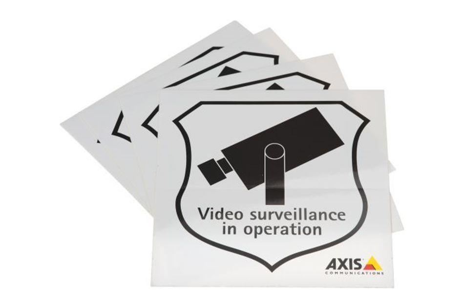 Axis - SURVEILLANCE STICKER ENG 50PCS | Digital Key World